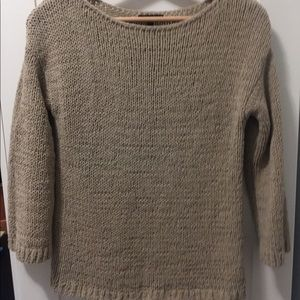 2 for $30 Massimo Dutti beige knit sweater size XS